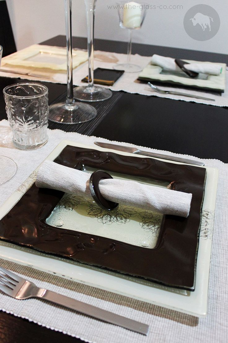 Elegant Table Setting In Warm Winter Tones Designed by www.the-glass-co.com ● Code: TS8 ➡ Contact us at info@myglassstudio.com