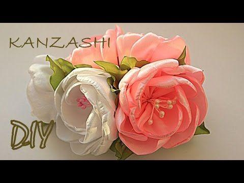 Цветы на Торжество Своими Руками / Канзаши Мастер Класс / Kanzashi Master Class / DIY - YouTube