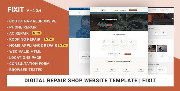 Phone Computer Repair Shop Website Template Fixit Computer