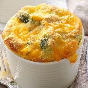 Broccoli Cheddar Cheese Souffle Recipe
