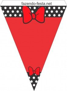 Minnie in Red Free Printable Kit. Right click and save as