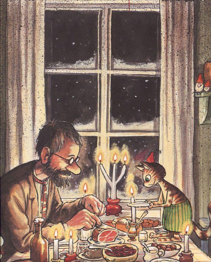 Новогодний сценарий детского праздника. Елка у Петсона и Финдуса #новыйгод #новогоднее #сценарий #детям #праздник #петсон #финдус