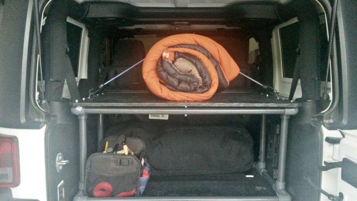 Jeep Wrangler Vehicle Storage Organizer by TheRealDubHub on Etsy, $295.00