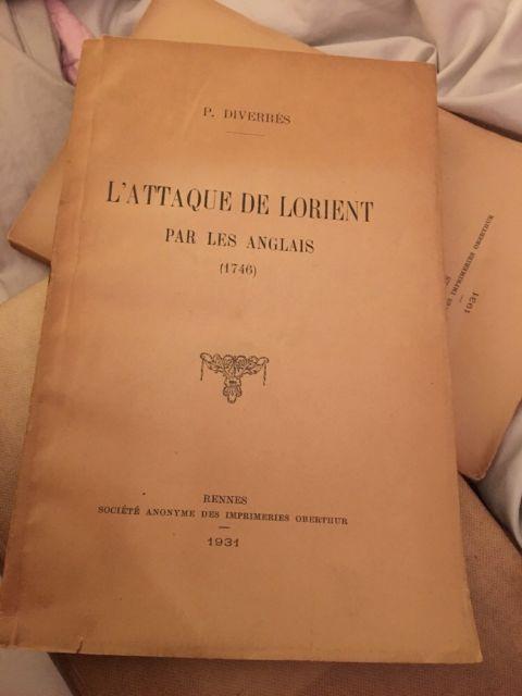 L' Attaque de Lorient par les Anglais (1746) by P.  Diverres Pub. 1931 Rennes | eBay