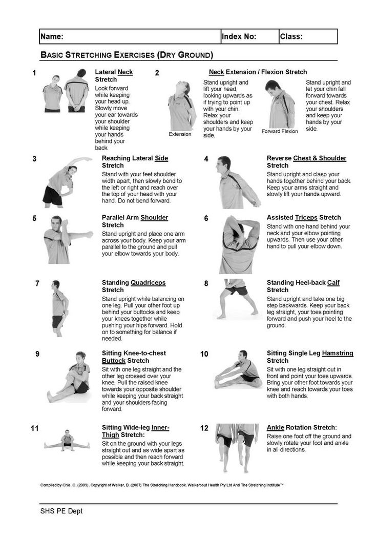 Stretching Exercises With Pictures Basic Stretching