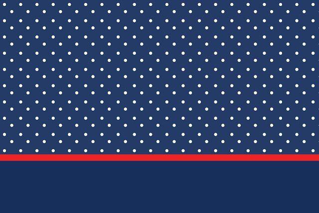 Poá Azul e Vermelho - Kit Completo com molduras para convites, rótulos para guloseimas, lembrancinhas e imagens!
