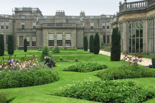 Lyme Park, Disley, Cheshire, England, dates from the end of the 16th century.
