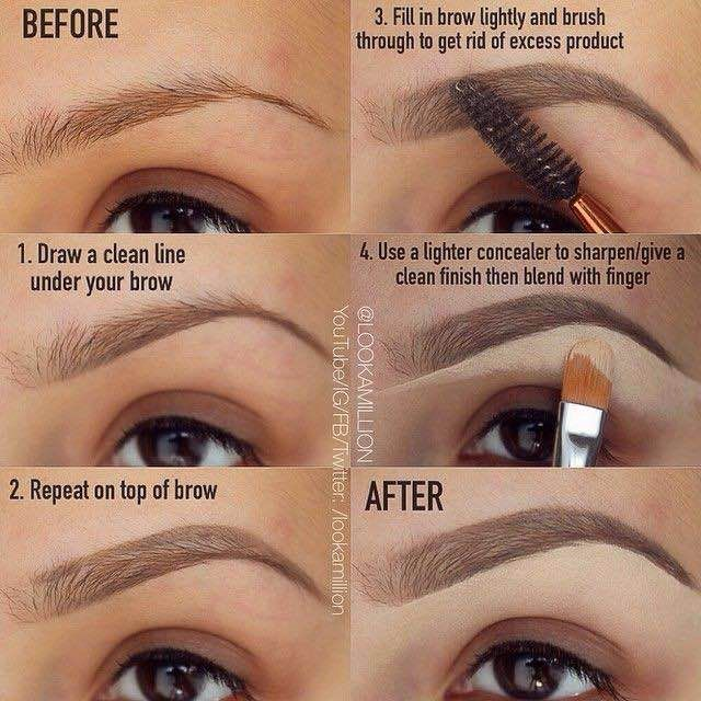 Perfect eyebrows = need concealer! Who knew? Image via LookAMillion