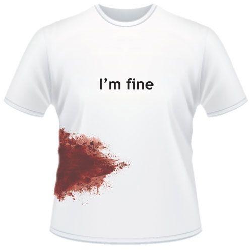 I'm fine - Zombie T Shirt