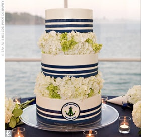 Nautical by Nature: Nautical Wedding Cakes, w/o the navy and use lace detail instead