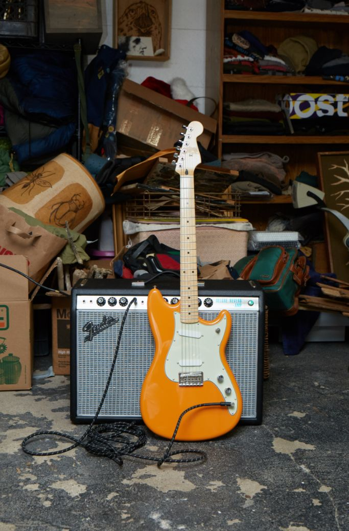 Press 'Save' if you need this Capri Orange beauty in your life. #FenderOffsets   #DuoSonic #Mustang #FenderGuitar #ElectricGuitar #Guitar #Guitars #Amp #FenderAmp #Princeton #DeluxeReverb #Fender #Guitarist #Need #MustHave