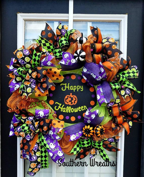 Check out this item in my Etsy shop https://www.etsy.com/listing/550184929/halloween-door-wreathdeco-mesh-halloween