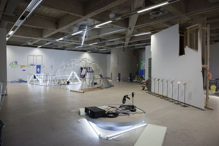 ARTIST COLLECTIVE NABB+TEERI 27.01.2015 to 15.03.2015. Elected Young Artists of the Year 2014, the artist duo Janne Nabb (b. 1984) and Maria Teeri (b. 1985), have been invited to the Areena venue in EMMA to build an interactive art process with the audience. Picture from the Areena.