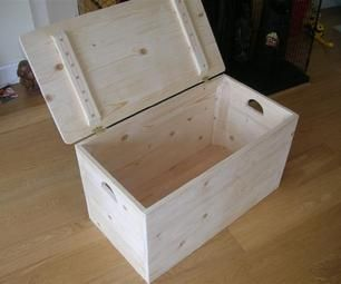 I made this simple storage box for my baby's toys. It's an easy one day project and you can improve or add your own design to it.  Material you will...
