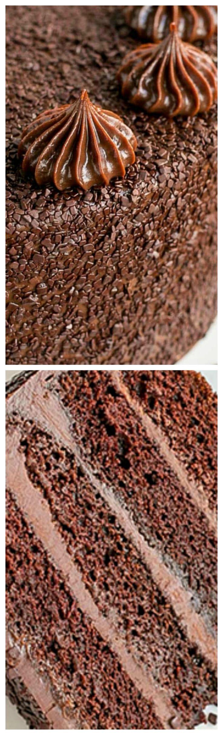 Chocolate Truffle Cake ~ dense, moist, and ultra chocolatey... Pure chocolate heaven!