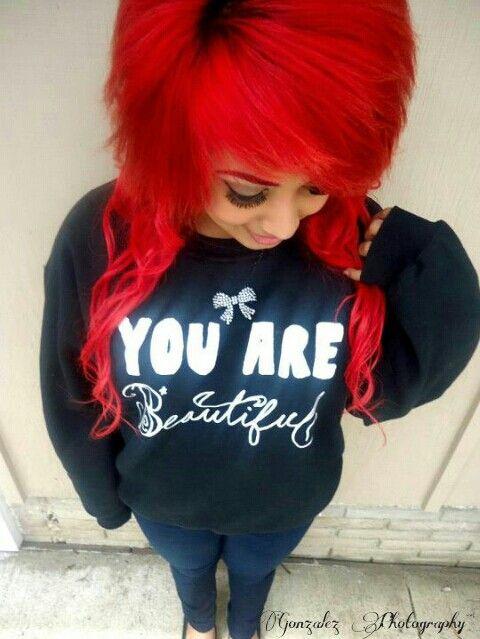 www.STAYGREAT.net Stay great apparel Red scene hair
