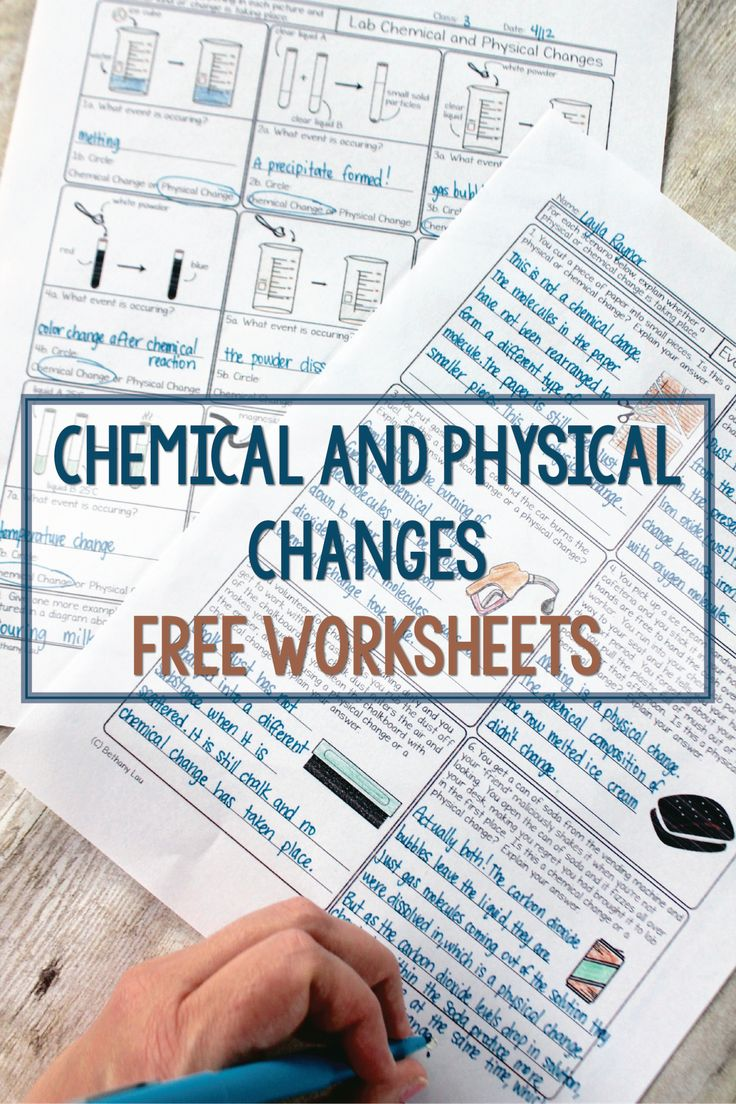 These free homework pages are terrific for helping students see physical and chemical changes in their everyday lives and in the lab. Free download. Science with Mrs. Lau