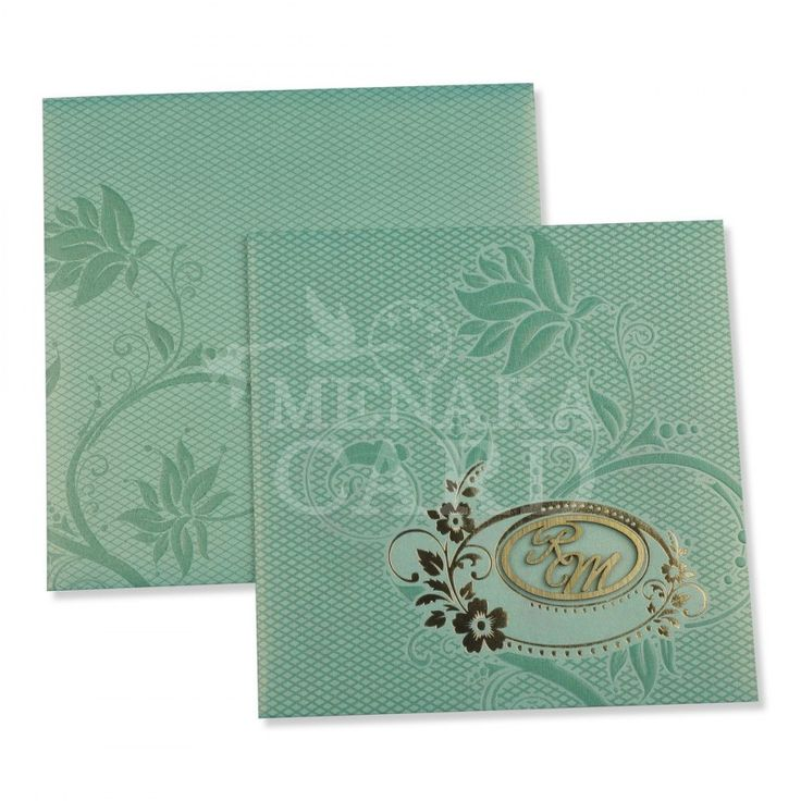 Tortoise Blue Card with Flower design in