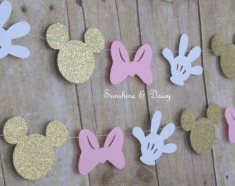 10 ft minnie mouse inspired paper garland by Sunshineanddaisy