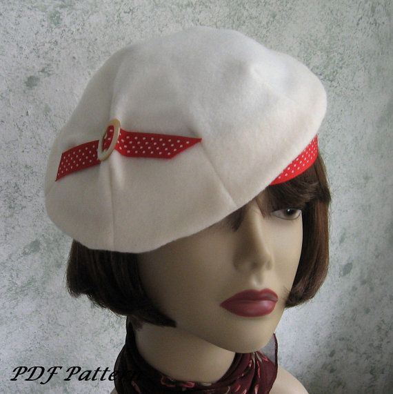 Womens 1930s Vintage HAT PATTERN Pleated Beret With Accent Trim PDF May Resell Finished