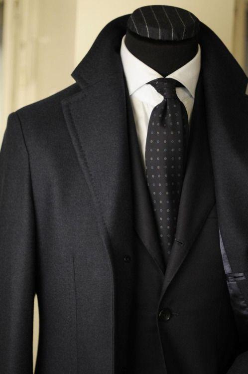 black suit & tie
