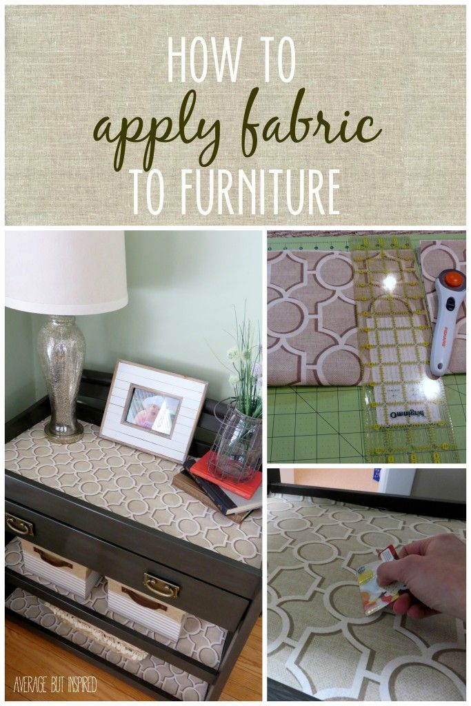 Learn how to add fabric to furniture in just a few simple steps!