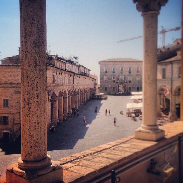 Piazza del popolo Fermo, province of Fermo Marche