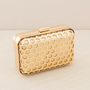 Hexagon Metal Cage Structured Clutch