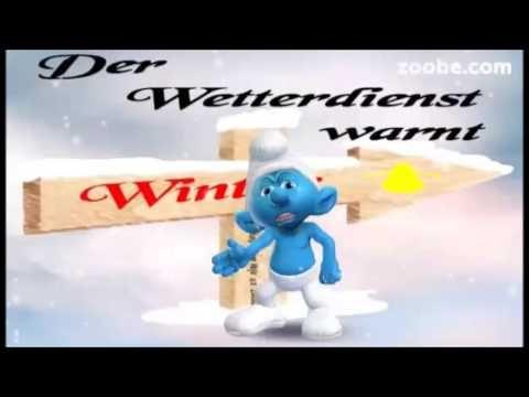 Wetterdienst warnt❄1 Schneeflocke fällt, bitte Haus und Hof nicht verlassenWinter⛄Schlumpf - YouTube