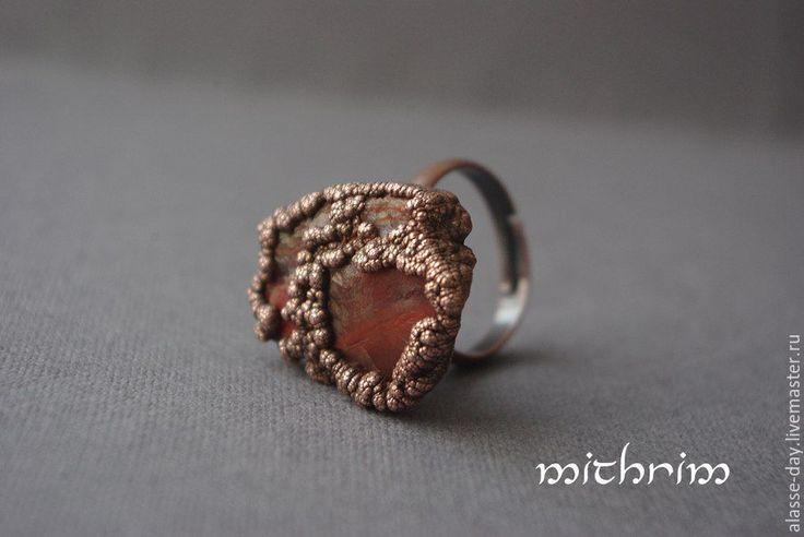 Купить Кольцо с сердоликом из пустыни Гоби - рыжий, кольцо, Сердолик, пустыня гоби, гоби