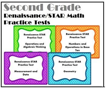A new product at an extra low price! Need help getting your students to show growth and progress on the STAR test? I did too! That's why I made this packet. This is a zip file that contains 4 tests (Operations and Algebraic Thinking, Number and Operations in Base Ten, Geometry, and Measurement and Data) created as a Study Guide or