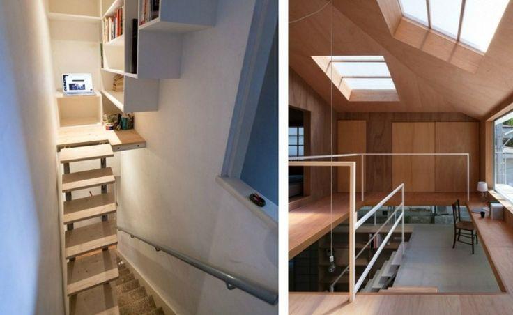 Escalier gain de place et id es grande hauteur sous plafond interieur plac - Hauteur minimum sous plafond ...