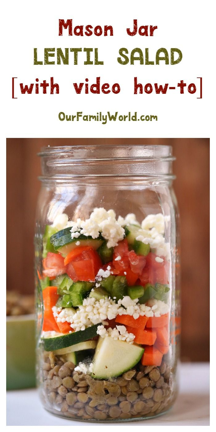 #vegetarian Take your mason jar salad to whole new levels with our lentil vegetarian recipe! Watch the video & grab the recipe now!
