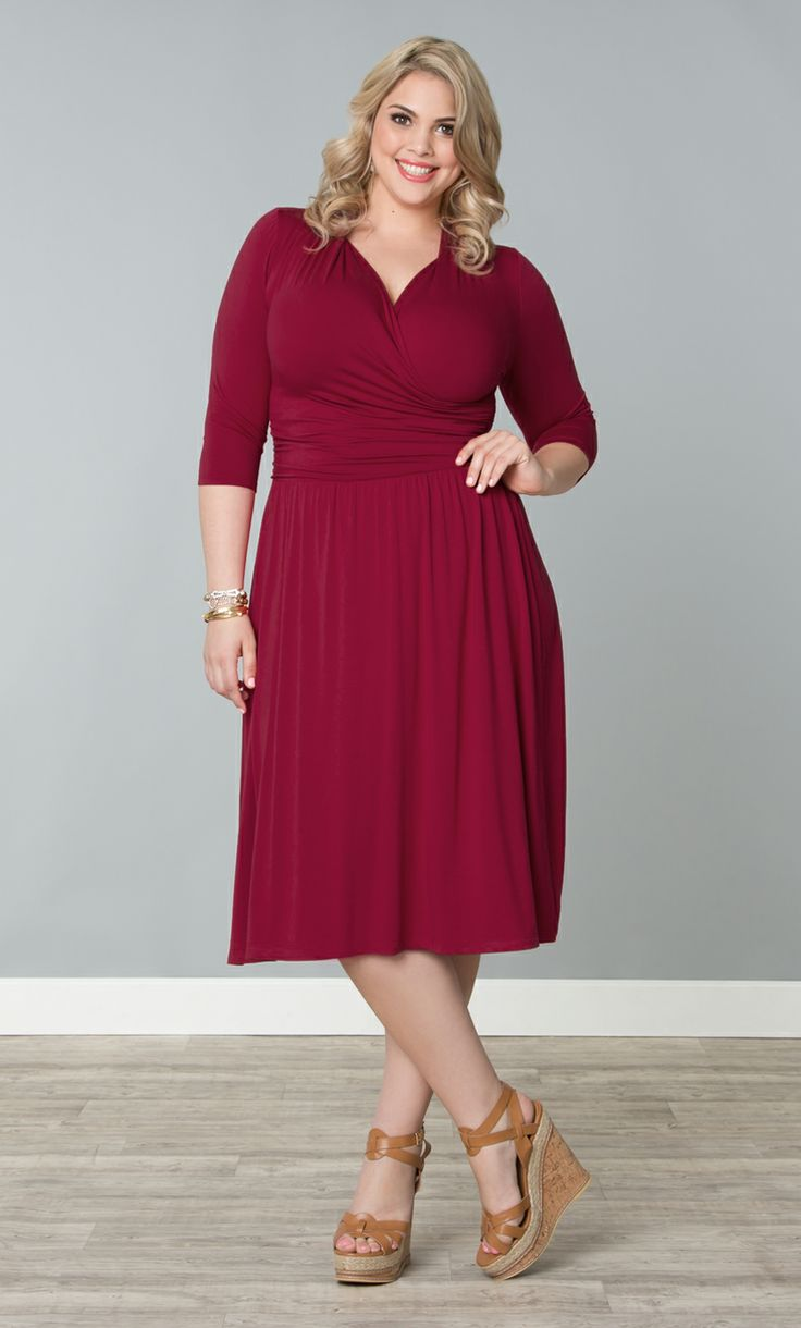 67 Best Curvy Red Dress Images On Pinterest Full Figured