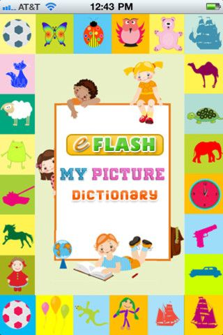 Kids Picture Dictionary : an educational app for kids in Preschool, Kindergarten, First-grade and ESL! Learn words and make sentences with fun record tool!  ($0.00)  A to Z Picture Dictionary with hundreds or words and sentences with a fun self-record tool for kids and parents to record their own voice and playback!