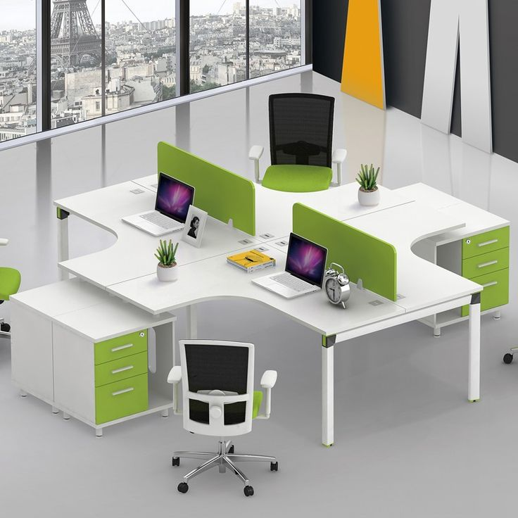 New design modular office furniture 4 person office desk for Office new design