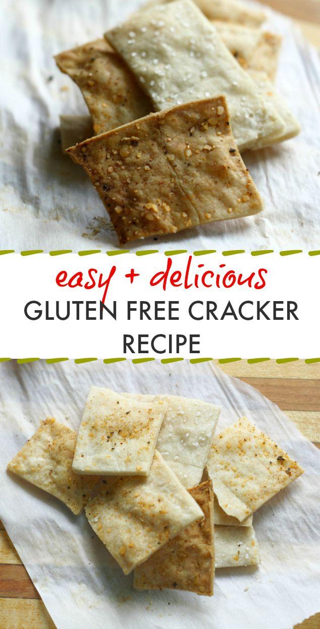 EASY and TASTY gluten free cracker recipe! Save money and make your own gluten free crackers at home! #glutenfree