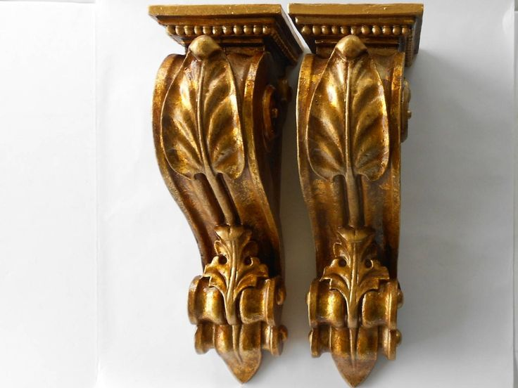 "20"" H, Pair of Large Wall Sconces , Large Wall Sconces, Shelf Sconces, Large Sconces, Gold Leaf Wall Sconces, Wooden Sconces by GoldLeafGirl on Etsy"