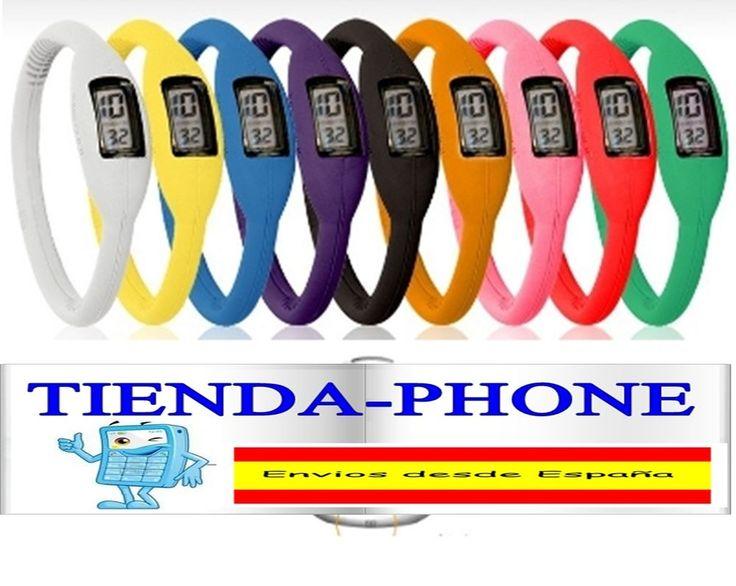 Unisex deportivo pulsera reloj silicona Ultra fino LED Digital reloj de pulsera