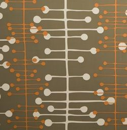 Muscat Grey Wallpaper samples, Mid century wallpaper