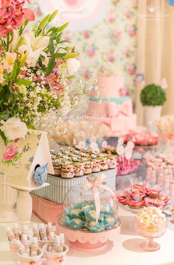 Amazing Little Birds Pink and Blue 1st Birthday Party (via Kara's Party Ideas). Lots of incredible detail and ideas.