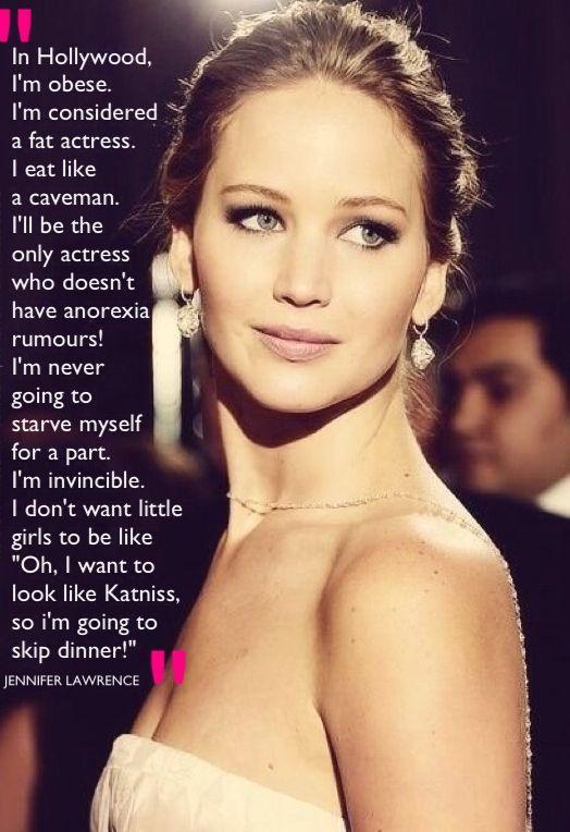 Oscar nominated Jennifer Lawrence on body image in Hollywood #bebodyproud