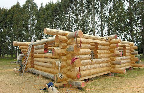 How To Build A Simple Log Cabin Bucketlist Pinterest