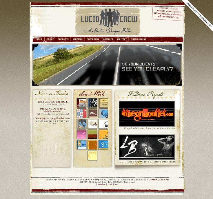 Lucid Crew website in 2005