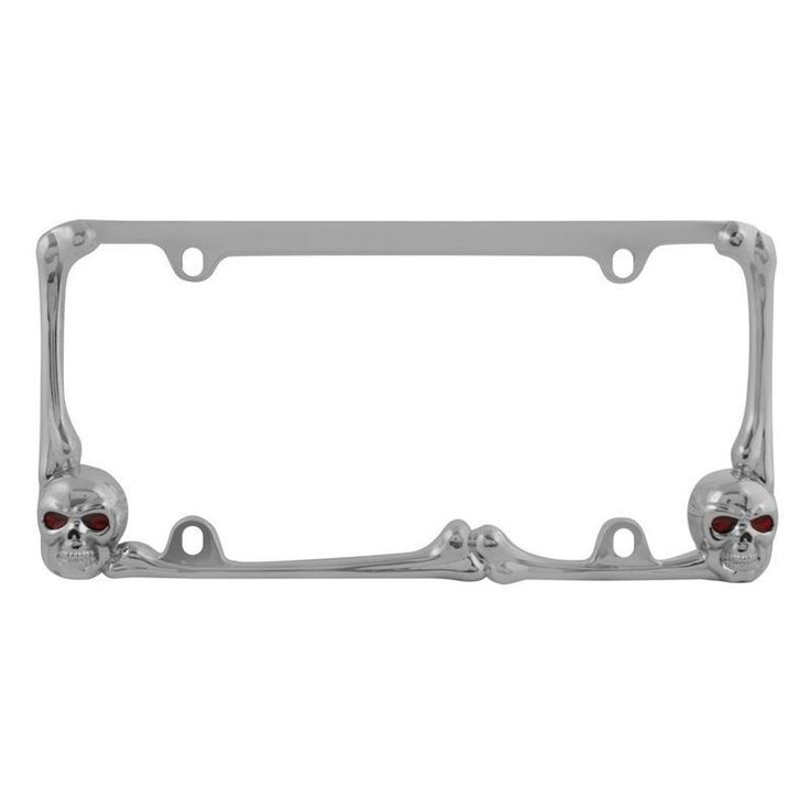 pilot automotive skull license plate frame with red led for vehicles automobile