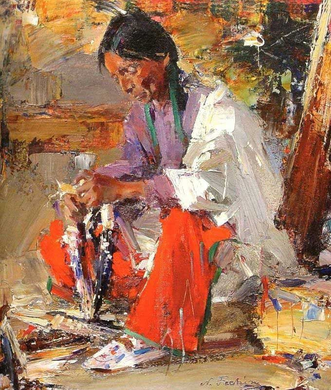 647 best art figurative images on pinterest painting for Nicolai fechin paintings for sale
