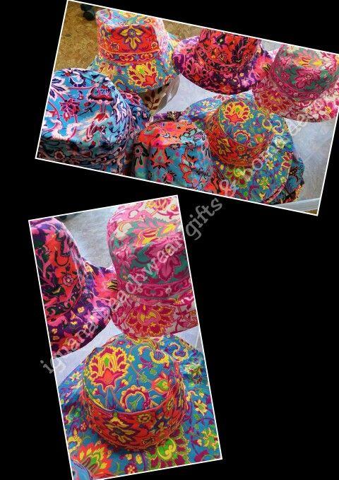Bright hats ready for summer @ #iguana_beachwear