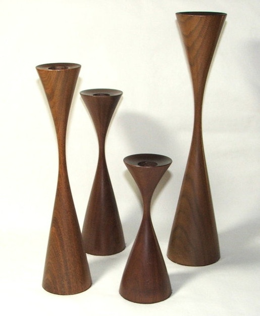 Osolnik Mid-Century Danish Modern Candle Holders