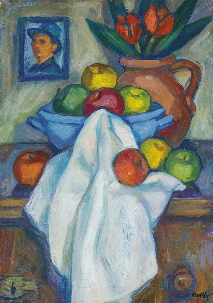 Kmetty János (1889-1975) Csendélet önarcképpel