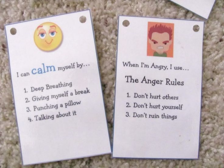 How to calm myself and Anger Rules--nice and simple